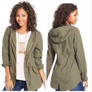 American Rag Cie Army Green Utility Hoodie Jacket